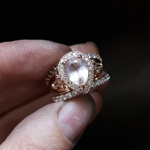 Morganite appears cloudy after being worn for a few months.